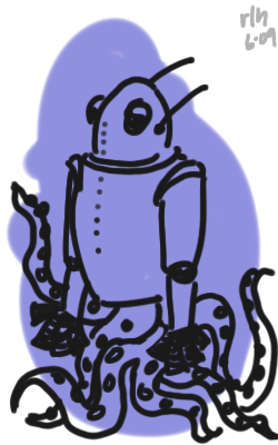 robot + tentacles